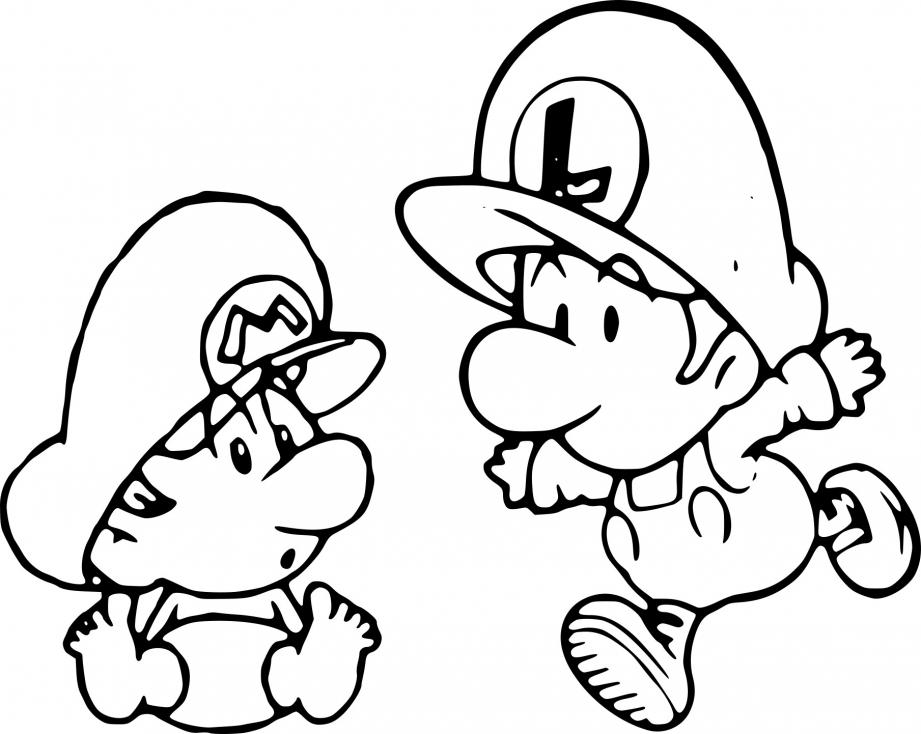 Mario et Luigi bébé