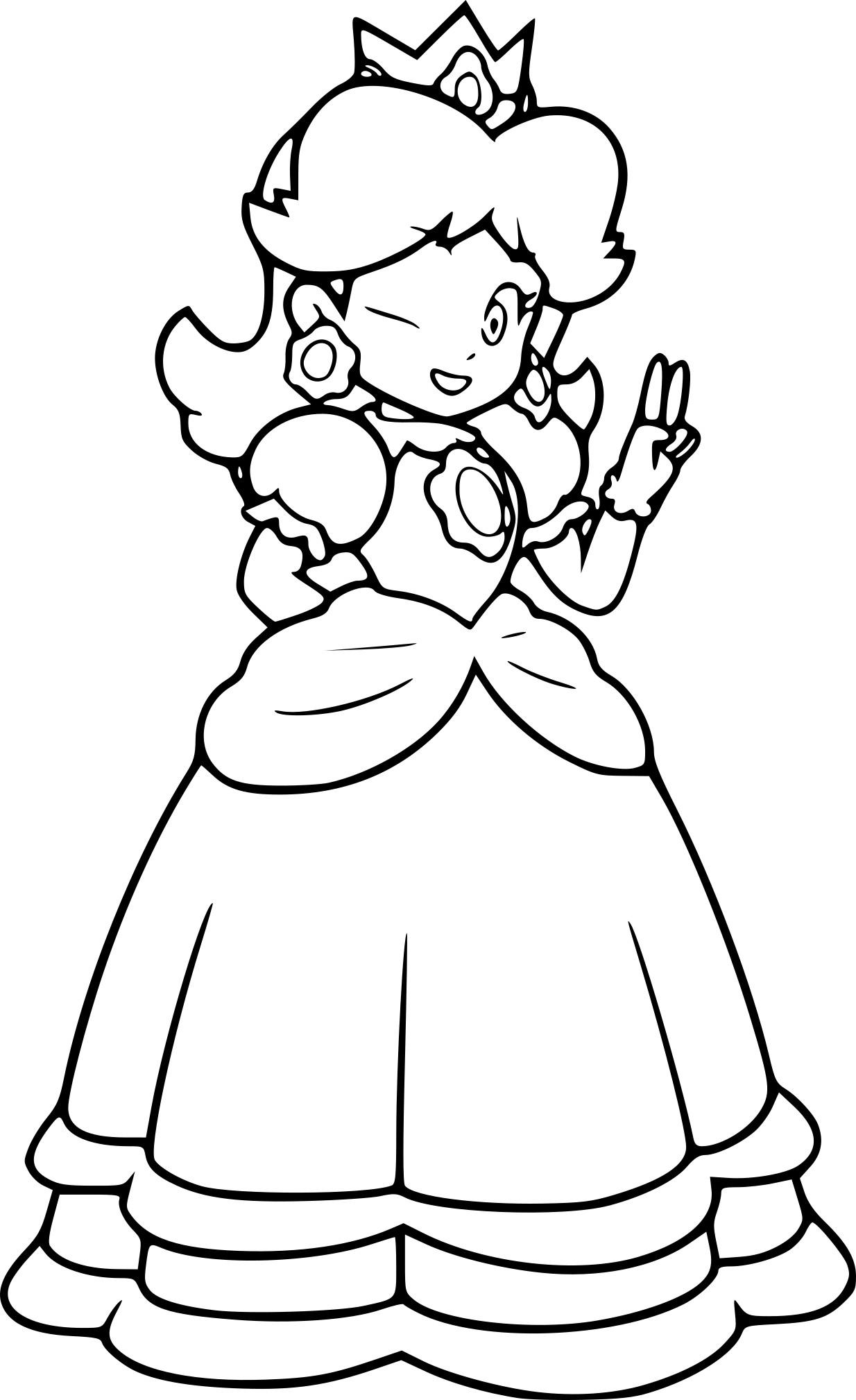 Coloriage princesse daisy imprimer - Coloriage de mario et luigi ...