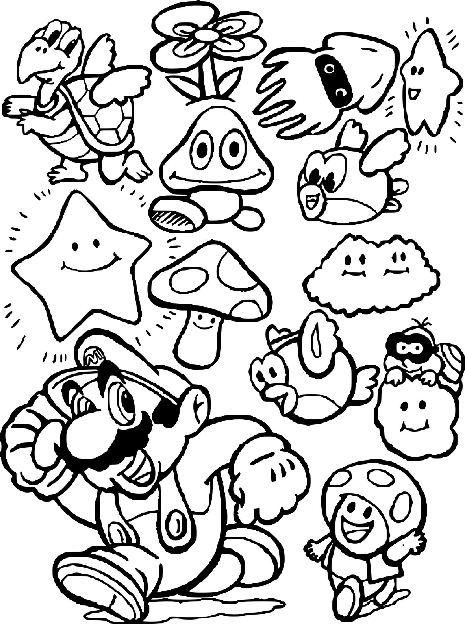 Frais Dessin à Imprimer De Mario Bros