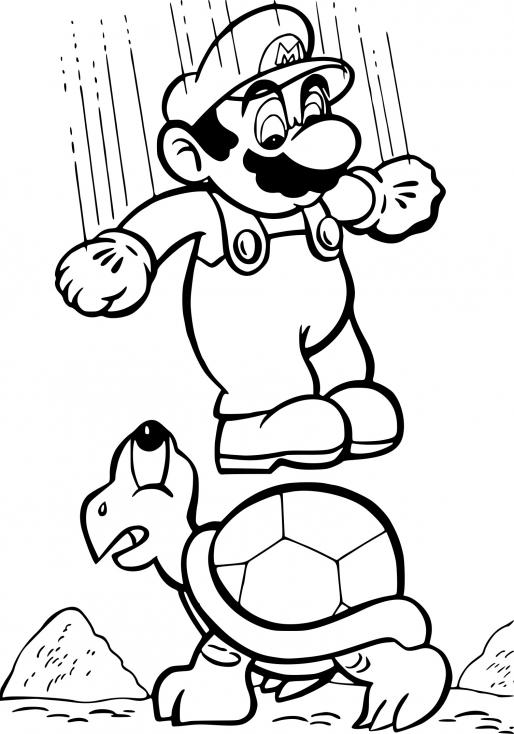 Coloriage Super Mario Bros à Imprimer