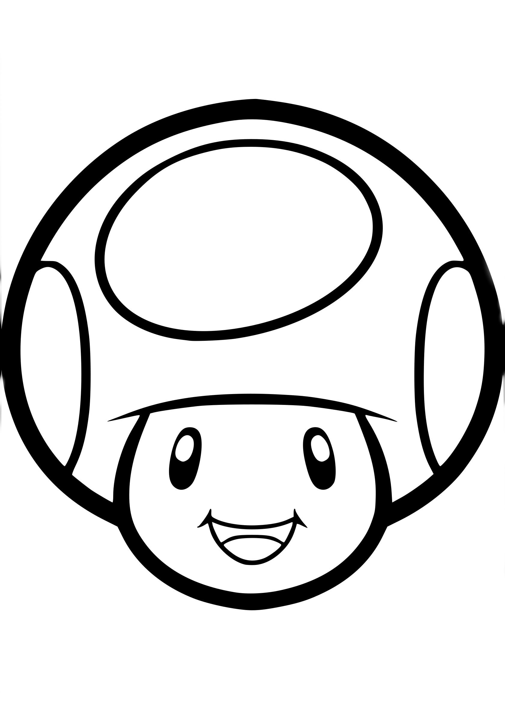 Coloriage Champignon Mario à Imprimer