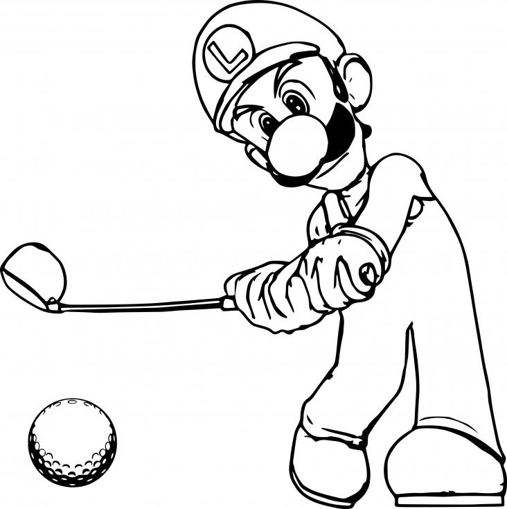Mario Golf avec Luigi