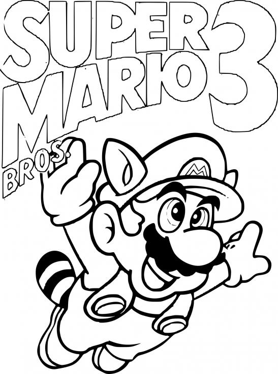 Coloriage Super Mario Bros 3 à Imprimer