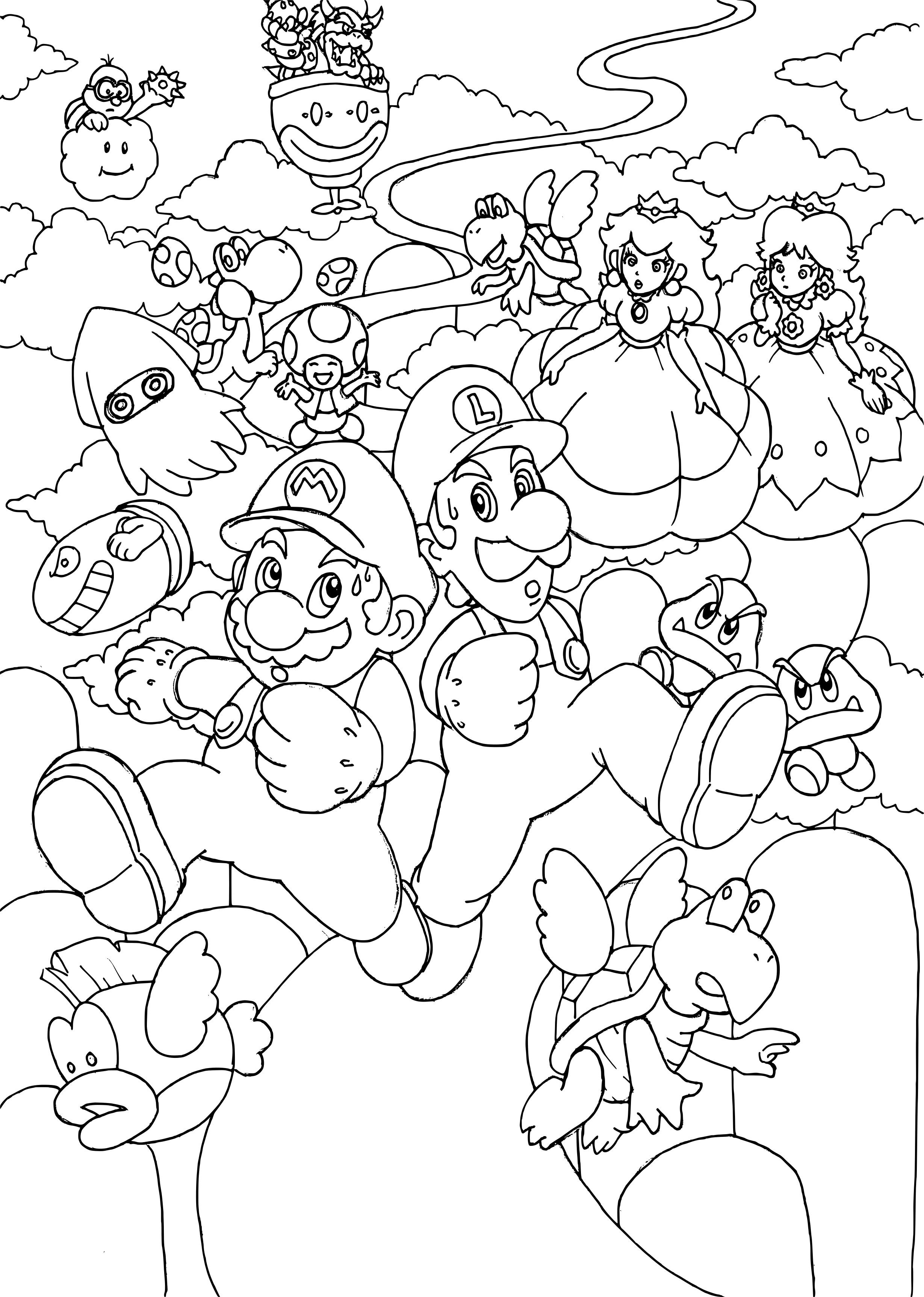 Coloriage Mario 3d Land A Imprimer