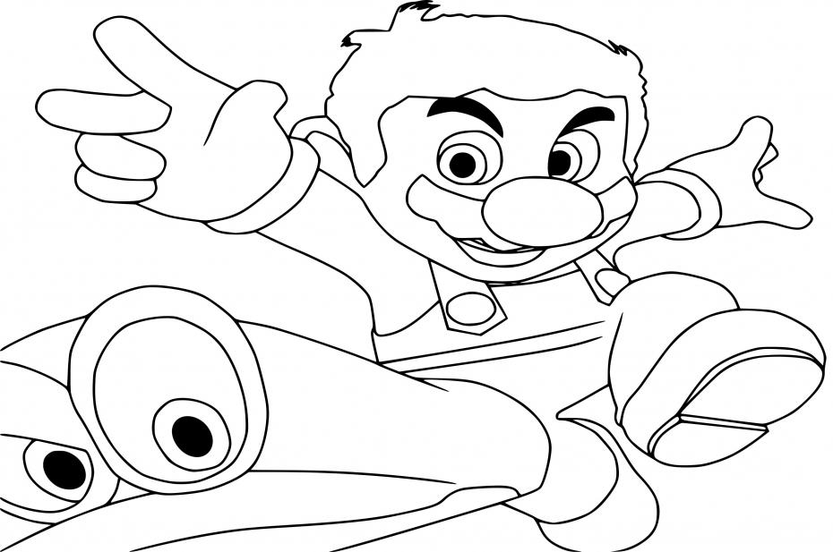 Coloriage Mario Odyssey A Imprimer
