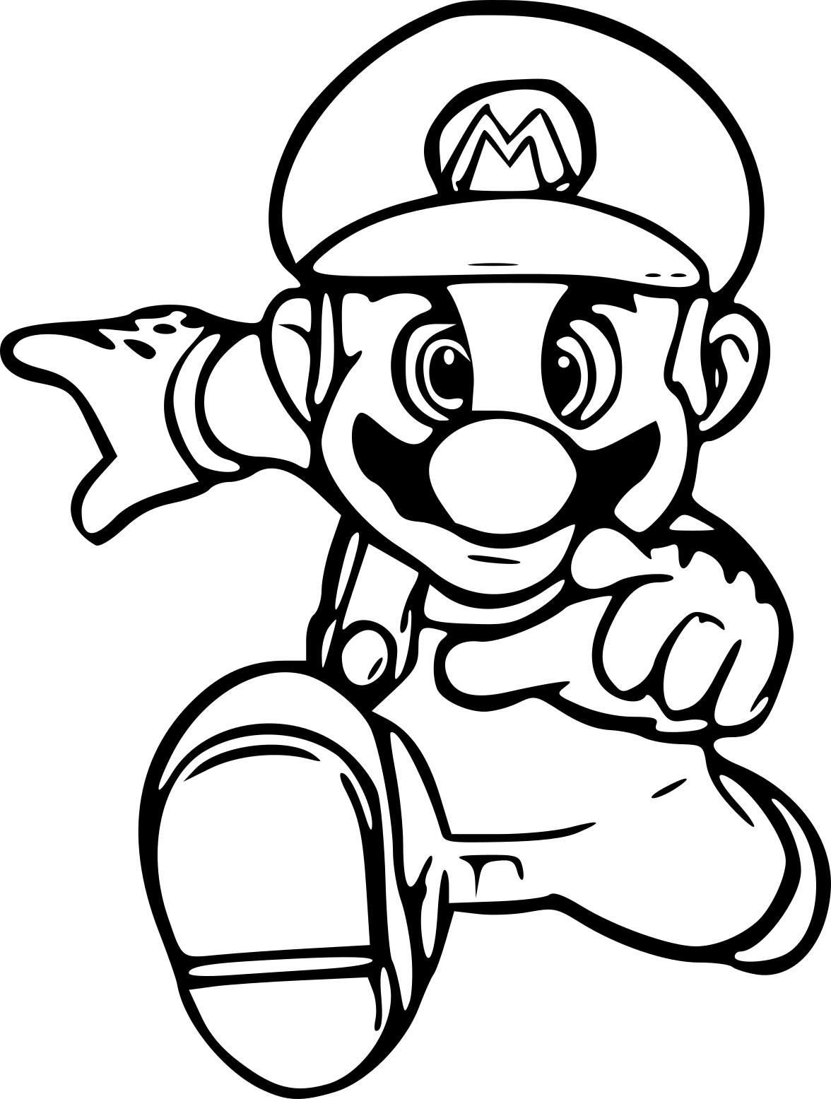 Coloriage Super Mario Run à imprimer